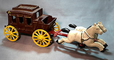 Cast Iron Horse and Buggy Wagon Model