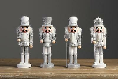Sliver Wooden Christmas Nutcracker Soldier Walnut Xmas Gift Table Ornaments
