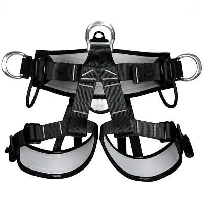 Heavy Duty Rock Climbing Rappelling Harness Safety Seat Bust Belt Equipment
