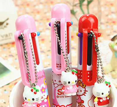 New Cute Hellokitty 6 Color Ball Point Pen lyo-3034