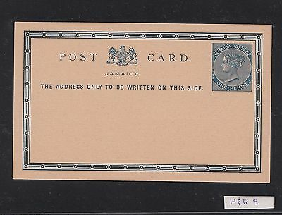 Jamaica Postcard Stationery Card H&G 8 Unused Mint One Penny Queen Victoria