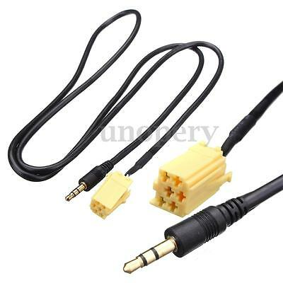 3.5mm Jack Gold Plated AUX Audio Cable Input Adapter For FIAT Grande Punto MP3