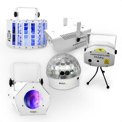 Ibiza LED DJ Party Lights and  Effects Set White Light Party II