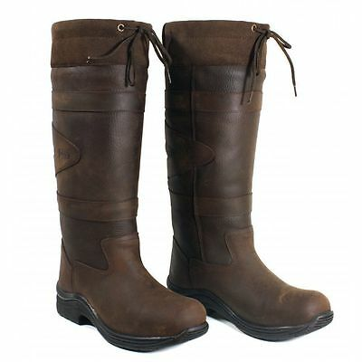 Toggi Canyon Waterproof Long Leather Riding/Country Boots - Chocolate All Sizes