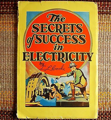 1927 Electricity Professions Secrets of Success in L L Cooke EXLNT COND Vintage