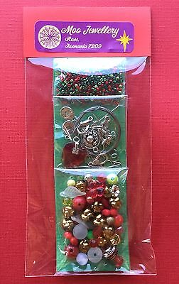 Jewellery Making Pack Craft Bead Kit Necklace Bracelet Xmas - Aussie Seller!!!