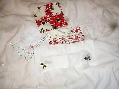 Mixed Lot Women's Christmas Hankies