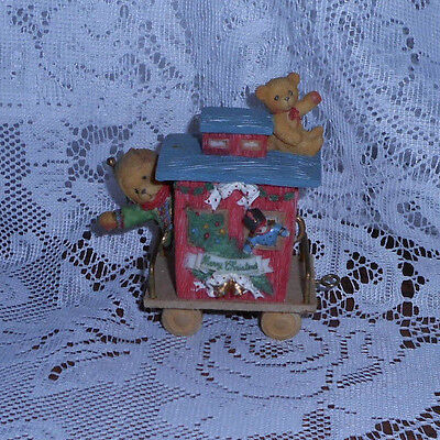 """Cherished Teddies Casey """" Friendship Is The Perfect End To The Holidays"""" 1996"""