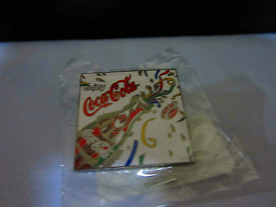 Coca Cola Olympic Sydney 2000 Olympic Games Enjoy Streamers White Pin Brand New