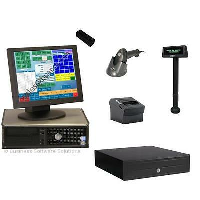 1 Stn Retail Touch Point of Sale POS System w/ Pole
