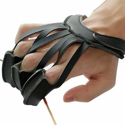 Archery Hunting 3 Finger Glove Left & Right Hand Protection Guard Bow Shooting