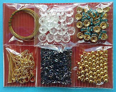 Jewellery Making Kit 6 Bags Craft Bead Findings Turquoise - Aussie Seller!!!