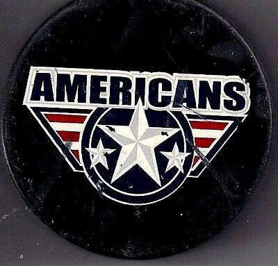Game Used Hockey Puck Souvenir The Americans Western Hockey Minor League