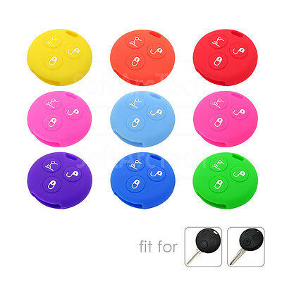 Silicone Cover fit for SMART K Fortwo Forfour City Roadster Remote Key 3 Button