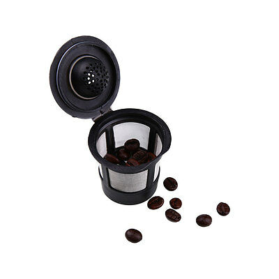 6pcs Reusable Compatible Coffee Espresso Capsules Pods Machines Filter Cups