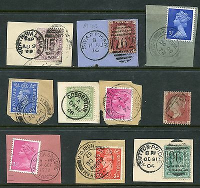 (0103) Gb Selection Of 10 Stamps With Complete Cancels