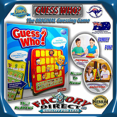 Guess Who Game Who Board Game Family Fun Educational Gift Toy Kids Memory