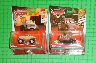 Disney Pixar Cars Deluxe - Lot of 2 - Craig Faster & Alexis Wheelson