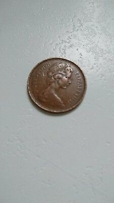 1971 New 2 pence coin