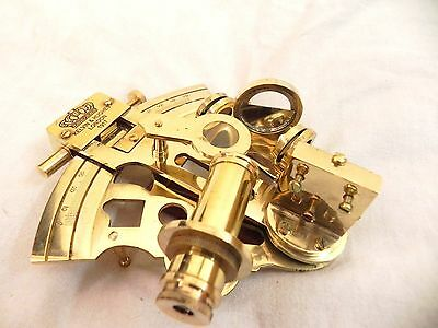 "4""nautical Maritime ~  Brass Sextant  ~  Sextant Astrolabe"