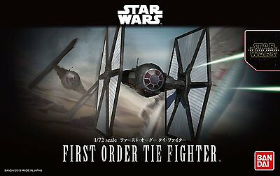 Bandai 1/72 STAR WARS FIRST ORDER TIE FIGHTER The Force Awakens from Japan NIB