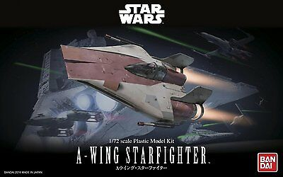 Bandai 1/72 STAR WARS A-WING STARFIGHTER w/ TURBOLASER from Japan