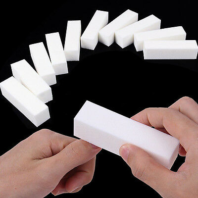 10 Pcs Nail Art Buffer File Block Pedicure Manicure Buffing Sanding Makeup Tools