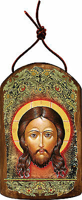 Icon of the Holy Face, Wooden Handcrafted Inspirational Ornament of Jesus