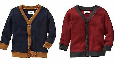 NWT Old Navy Toddler Boys' Colorblock Long Sleeve Cardigan Sweater 4T or 5T