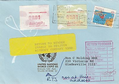 Australia FRAMAS Commercial Cover Returned To Sender RTS lot 2