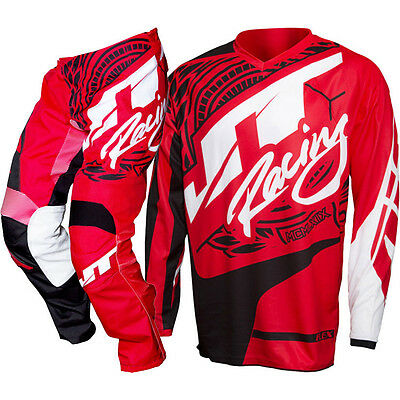 NEW JT Racing 2017 MX Flex Victory Red Black Jersey Pants Motocross Gear Set