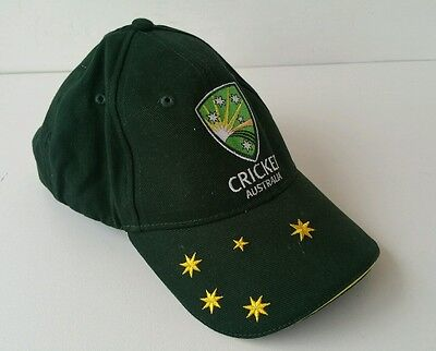 Cricket Australia Genuine Product 2008 Solid Green Baseball Cap As New Condition