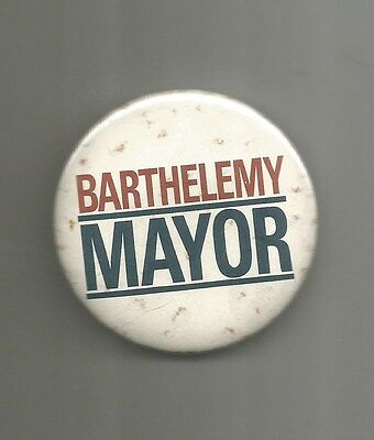 1986 Sidney Barthelemy for Mayor of New Orleans Louisiana Democrat Button Pin