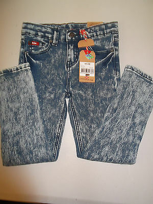 Childs Kids Leecooper Size 4 Jeans Acid Wash Slim Fit Stretch