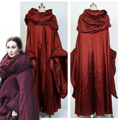 GoT Game of Thrones The Red Woman Melisandre  Dress Robe Cosplay Costume Outfit