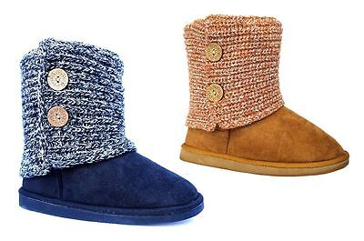 WHOLESALE Lot 12 Pairs Women Fashion 2 Button Knitting Boot Snow Boot Faux Fur