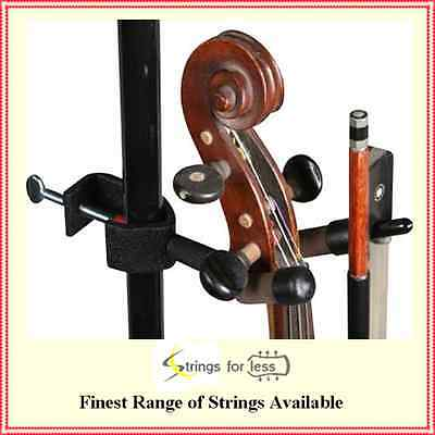 String Swing Violin and Bow Hanger for Mic or Music Stand CC04V