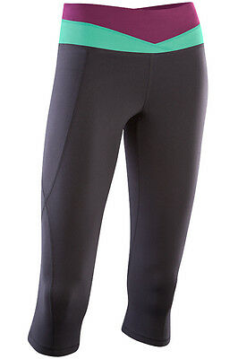 New 2Xu Training Fitness Shorts 3/4 Action V Trim Tights Women S  Black Lime