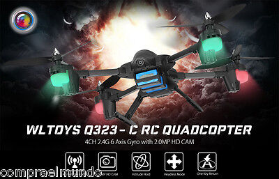 WLtoys Q323-C Quadcopter 2.0MP 2.4G 4CH 6 Axis Gyro Altitude Hold RTF Drone LED