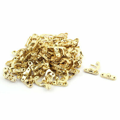 Home Metal Swing Bag Chest Cabinet Hasp Box Latch Hook Lock Gold Tone 150 Sets