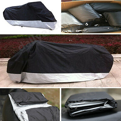 Waterproof Motorcycle UV Dust Protector Rain Cover 4XL For Harley Touring Models
