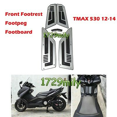 Front Footrest Footpeg Footboard Foot Panels for Yamaha TMAX 530 12-15 SILVER