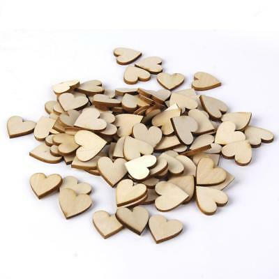 50pcs Basswood Blank Peach Heart Embellishments DIY Scrapbooking Craft 40mm