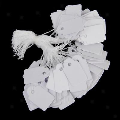 500Pcs White String Blank Label Jewelry Pricing Paper Tags Chain Tags