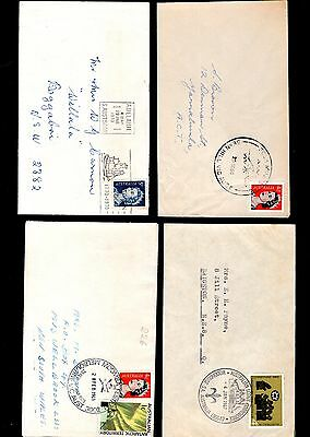 Australia 4x covers with pictorial cancels see scans x2