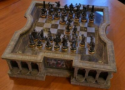 The Lord of the Rings pewter chess set by The Noble Collection with 56 figures