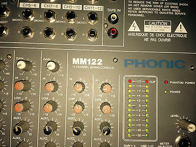 Console Mixage .mm122 Phonic  12 Canals