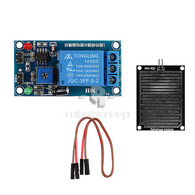 DC 12V Rain Sensor Module Relay Control Module Sensitivity Weather Module