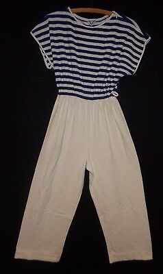 Vintage 70's Vanity Fair Jumpsuit Terry Cloth Lounge Wear  Cabana  Size Smal