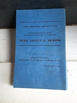 One Book On Working Of Electric Train N.s.w